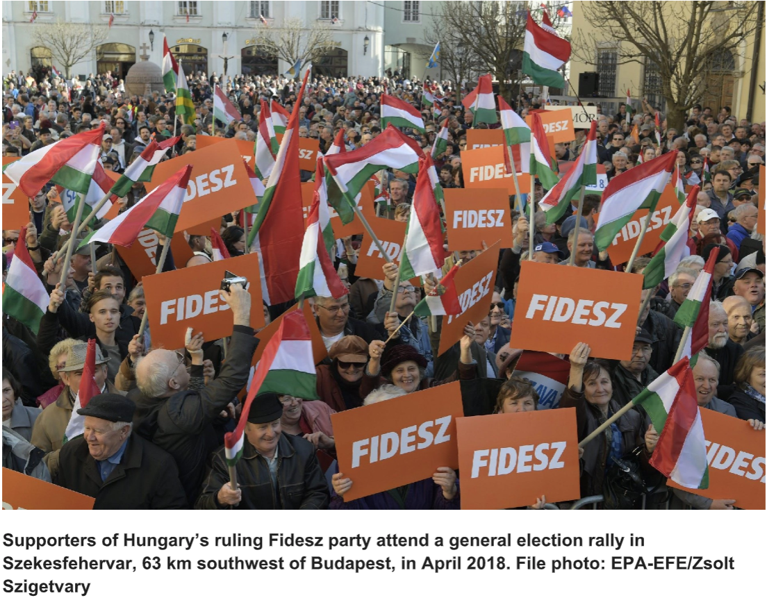 Supporters of Hungary
